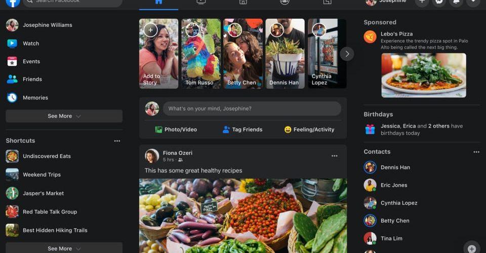 Facebook.com new design