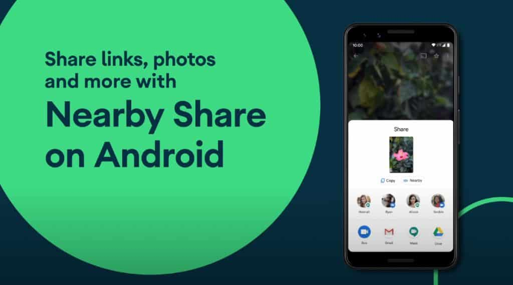 How to use Nearby Share between two android phones