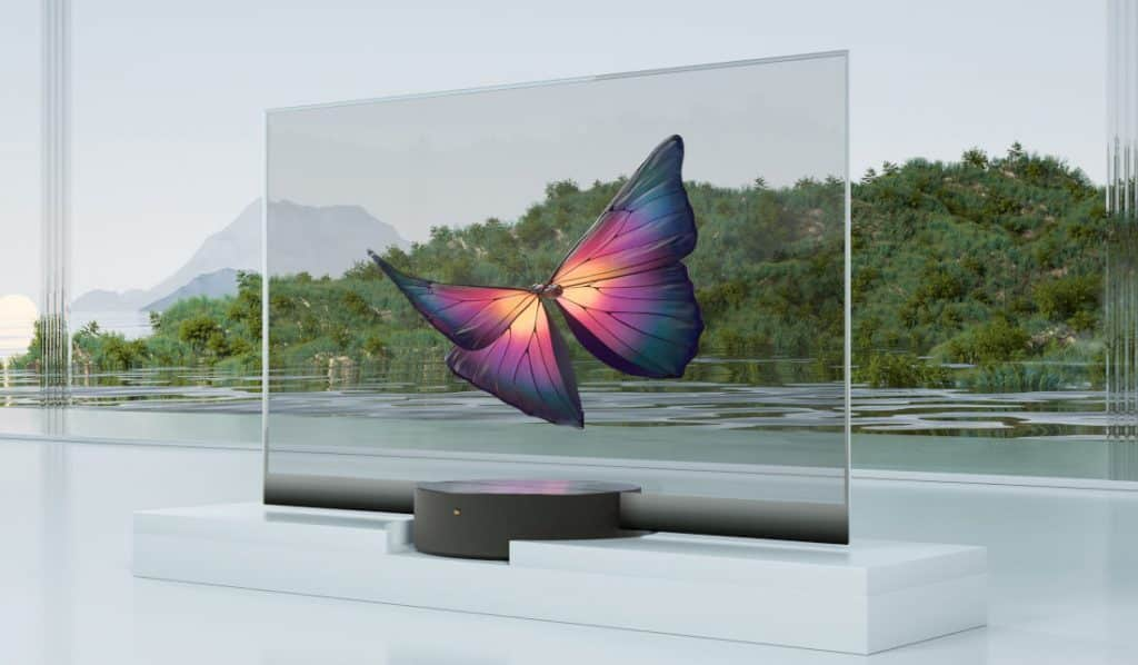 Xiaomi Mi TV LUX Transparent Edition in China
