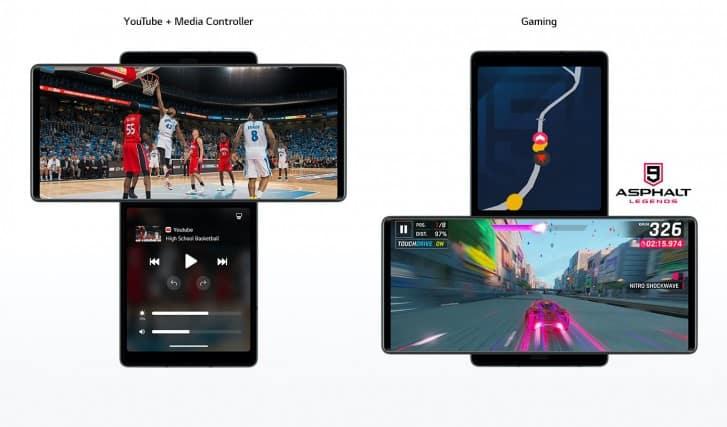 LG Wing swiveling screen