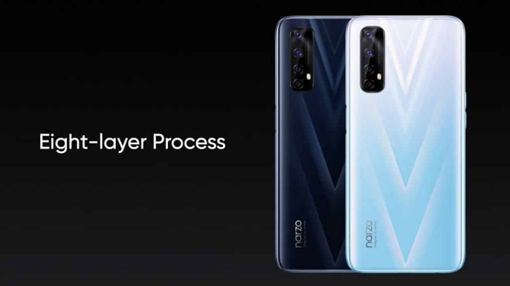 realme Narzo 20 Pro with an eight-layer process