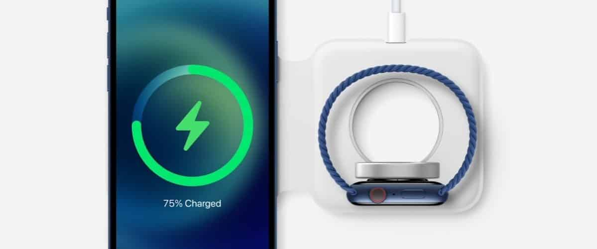 iPhone 12 MagSafe with Apple Watch charging support