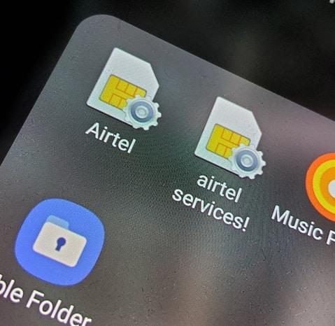 Airtel menu services
