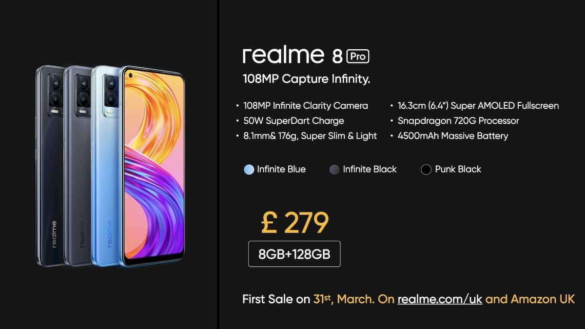 realme 8 pro uk pricing